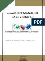 Dossier Comment Manager La Diversite Culturelle 1