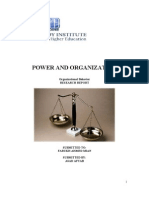 Power and Organization