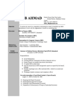 Aftab Ahmad CV