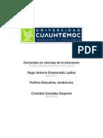Política Educativa, tendencias. Hugo Enamorado