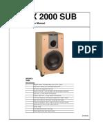 Jbl Lx 2000 Sub Service