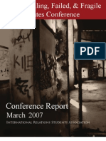 Failing, Failed, and Fragile States Conference Report