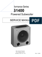JBL PS1400 Performance Series, Subwoofer Sm