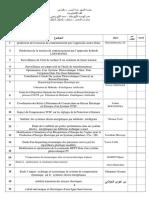 جدول مذكرات الماستر-شعبة الكهروتقني