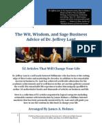 The Wit Wisdom Sage Business Advice Dr Jeffrey Lant