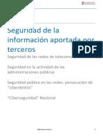 3. Seguridad de la informacion aportada por terceros