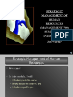 760 Intro Lecture 06 (Strategic Management of Human Resources )