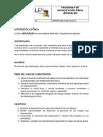 PROGRAMA DE CAPACITACIÓN FINCA JERUSALEN