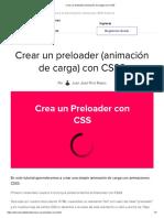 Crear un preloader (animación de carga) con CSS3
