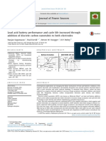 Lead acid battery performance and cycle life increased through addition of discrete carbon nanotubes to both electrodes