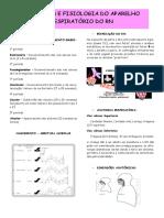 anatomia e fisiologia do aparelho resp do RN