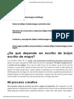 ¿De qué depende ser escritor de brújula o escritor de mapa_