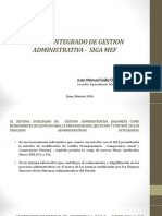 1 SISTEMA INTEGRADO DE GESTION ADMINISTRATIVA -  SIGA MEF01