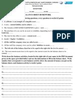 Balance sheet homework