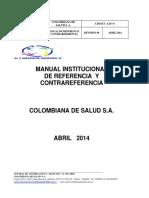MANUAL REFERENCIA Y CONTRAREFERENCIA  CIAU  abril 2014