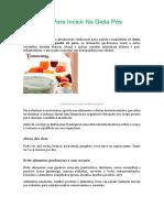 Alimentos Para Incluir Na Dieta Pós Festas