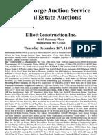 Elliott Construction Complete Dispersal Auction