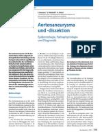 Aortenaneurysma und -dissektion