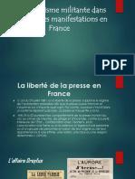 La liberté de la presse en France face a la denonciation de la violence policier