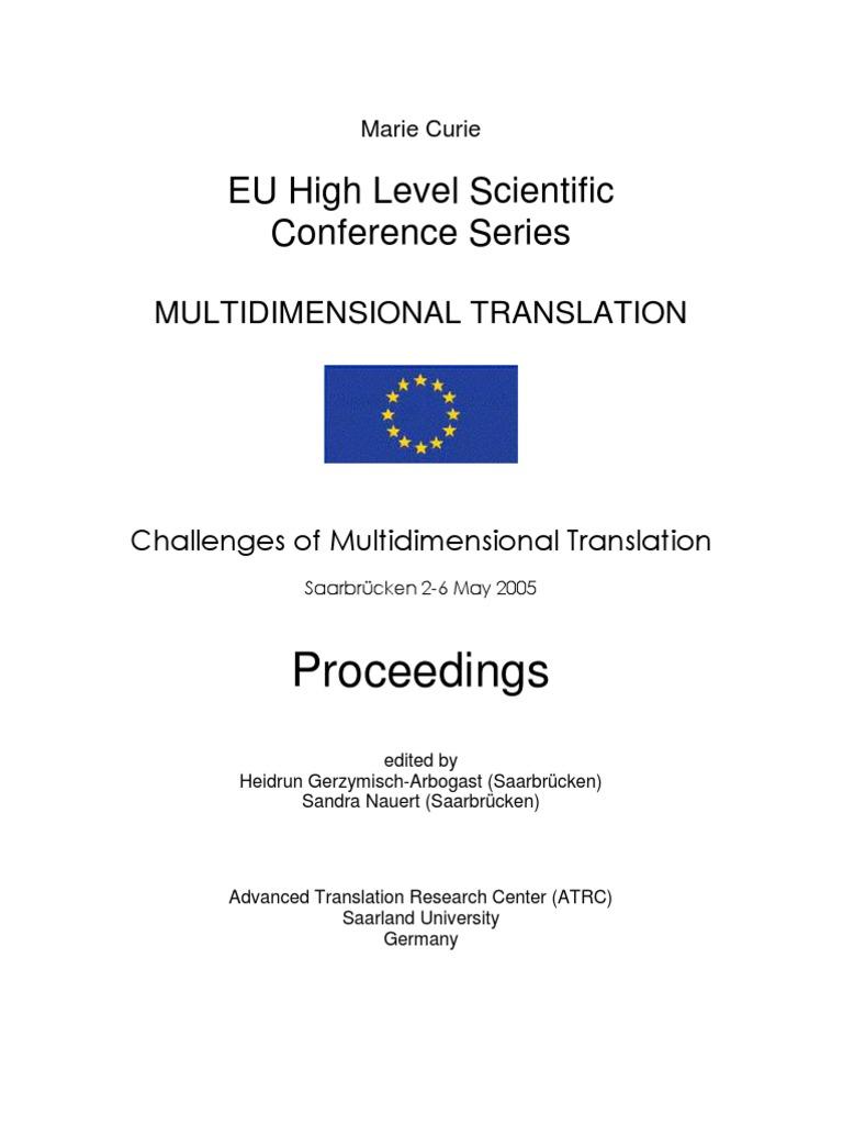 MuTra 2005 Proceedings | Language Interpretation | Translations