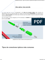 Tipos de conectores Fibra Optica
