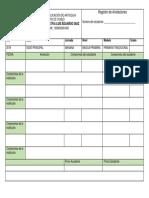 Registro anotaciones Formato