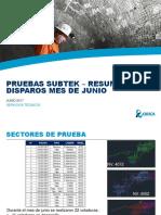 PRUEBAS SUBTEK SMEB RESUMEN MENSUAL DE DISPAROS - JUNIO-1