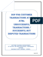 SOP FOR CUSTOMER TRANSACTIONS AT SBI ATMs UNSUCESSFUL TRANSACTIONS - SUCCESSFUL BUT DISPUTED TRANSACTIONS.pdf