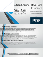 Distribution Channel of SBI Life Insurance- S&D