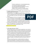 VARIABLES PARA AUMENTAR LA CAPACIDAD DE PLANTA DE CHANCADO