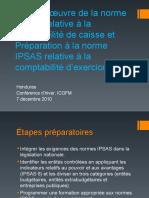 Honduras Mise en œuvre de la norme IPSAS relative à la comptabilité de caisse et Préparation à la norme IPSAS relative à la comptabilité d'exercice