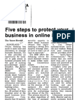 Five steps to protect your business in online banking