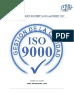 """INVESTIGACIÓN DOCUMENTAL DE LAS NORMAS """"ISO"""""""