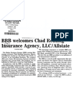 BBB welcomes Chad Redding Insurance Agency, LLC/ Allstate