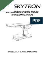 Skytron Elite 3500 Surgical Table - Maintenance Manual