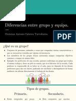 Diferencias Entre Grupo y Equipo.