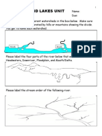 Rivers, Lakes, Water Quality Unit Assessment / Homework - Download at www. science powerpoint .com