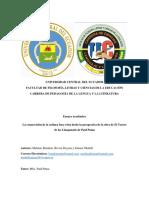 Ensayo de La Cosmovisión Inca Visto Desde La Perspectiva Del Teszoro de Los Llanganatis-convertido
