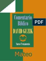 Comentario Bíblico de David Guzik - MATEO