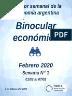 Revista Binocular Semanal - 1 Al 7 de Febrero