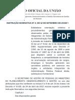 Jornada de Trabalho - INSTRUÇÃO NORMATIVA Nº 2, DE 12 DE SETEMBRO DE 2018 Ministério Planejamento