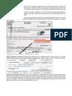 cheque y tipos de cheques