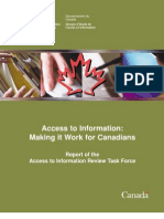 (David McKie, December 1, 2010) Report of the Access to Informatio