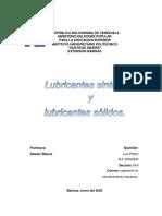 lubricantes sinteticos y solidos