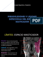 Pseudolesiones y lesiones infecciosas del espacio Masticador