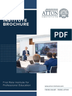 Atton Institute Corporate Brochure
