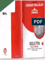 Boletin Cesar Vallejo - Ciclo Anual