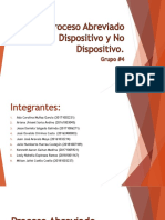 Proceso Abreviado Dispositivo y No Dispositivo