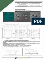 Cours - Physique - tension alternative, tension alternative sinusoïdale, courant de secteur , transformateur, redressement - 2ème Sciences (2017-2018) Mr Sahbani Mohamed Ali.pdf