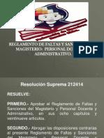 1 REGLAMENTO DE  FALTAS Y SANCIONES F.D.M.E.R.C.ppt